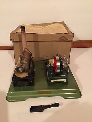 Vintage Fleischmann (Germany) Toy Steam Engine with Original Box. EUC!