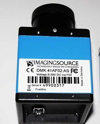 Imaging Source Mono DMK 41AF02.AS in A1, FireWire connection, & Firewire PC Card