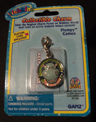 Webkinz Charm Brand New in Package W Sealed Code - PLUMPY CAMEO