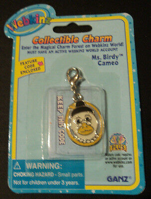 Webkinz Charm Brand New in Package W Sealed Code - MS. BIRDY CAMEO