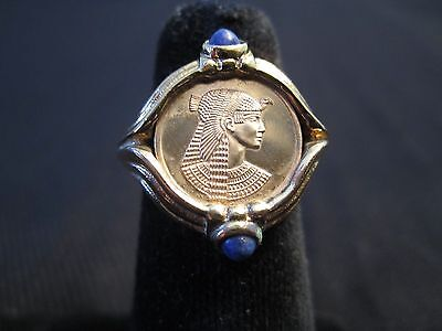 Cleopatra ring in gold from The Franklin Mint