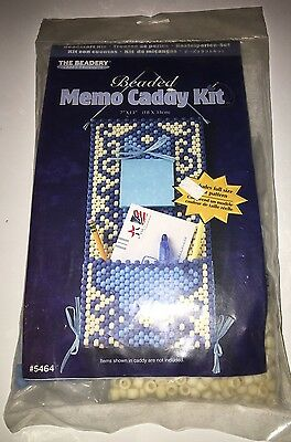The Beadery Beaded Memo Caddy Kit 7 X 13 Sealed Made in the USA