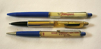 Vintage SS INDEPENDENCE Disneyland Boys Town SOUVENIR FLOATY PENS & PENCIL 3 pc