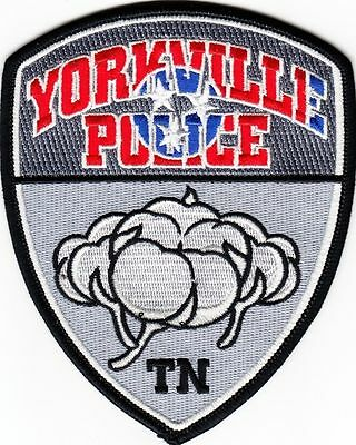Yorkville Tenn Tn Police Dept Ypd Pd Cotton Red White Blue Local State County