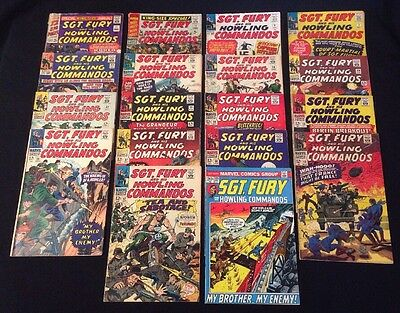 Lot of 18 VTG SGT. FURY & HIS HOWLING COMMANDOS Comic Books Sergeant Silver Age