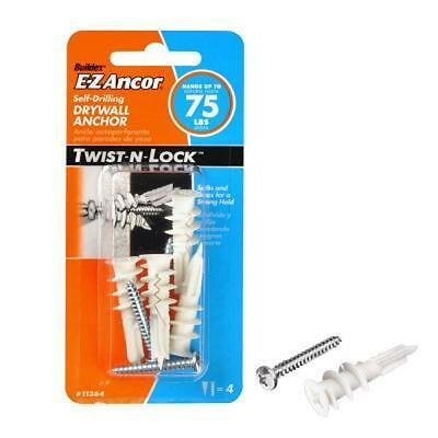 EZ Anco, 4 Pack, #75 Self Drilling Drywall Anchors 11364