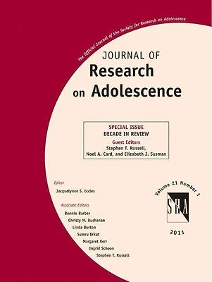 Journal of Research on Adolescence by S. Russell Paperback Book (English)