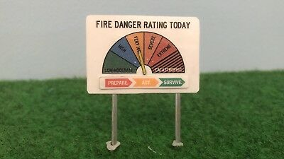AUS Fire Danger Rating Sign Models – 9 Pack
