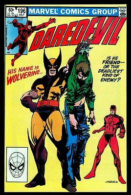Marvel Comics DAREDEVIL #196 Wolverine DOUBLE Cover!!! NM 9.4 NM+ 9.6