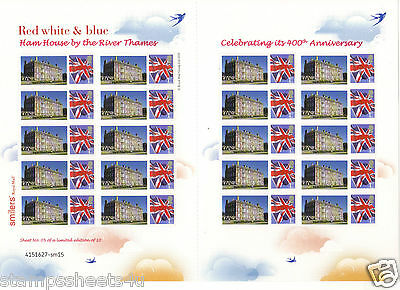 TSL179 2010 Ham House National Trust Property Limited Themed Smilers Stamp Sheet