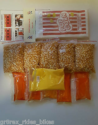 100 Serves Cinema Quality Popcorn Kit, Suits 8oz Machine, Popcorn,Salt,Oil,bags