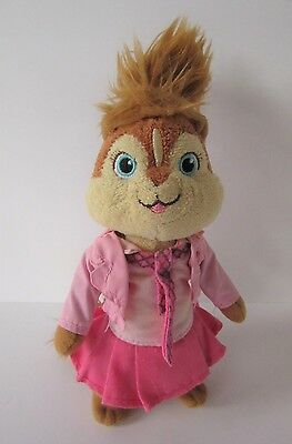 "Ty beanie Brittany Chipmunk 9"" small plush pink Alvin & the Chipmunks soft toy"