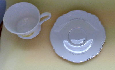 Retro Vintage Holly Hobbie Cup & Saucer Yellow 1970's Hollie Hobby