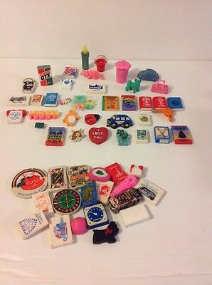 JOB LOT OF VINTAGE RETRO ERASERS 1980s Collectable