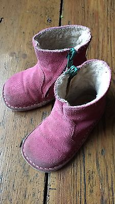 Baby Boden Pink Suede Boots - Size 22 (infant Size 5)