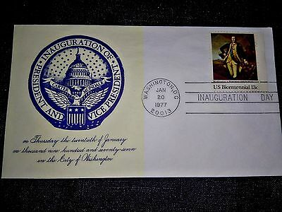 American 1977 President Carter Inauguration First Day Cover (Washington Stamp)