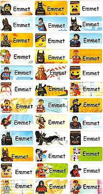 Personalized Name labels Waterproof stickers, 36 Lego , day care, school