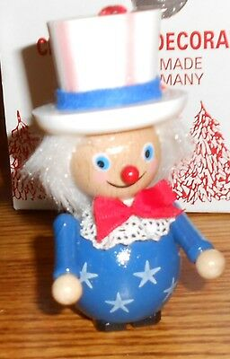 Steinbach Nutcracker Ornament USA PATRIOTIC UNCLE SAM HAND MADE GERMANY
