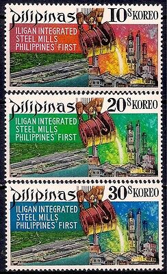 Philippines 1970 Steel Mills Industry Iron Metal Commerce Business 3v MNH