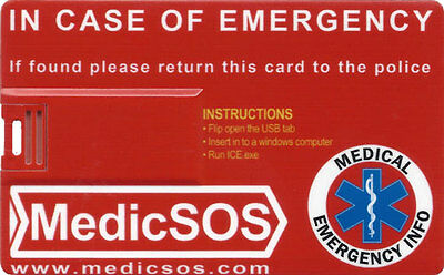 ICE IN CASE OF EMERGENCY (Medic SOS / MedicSOS ICE Card Pro)