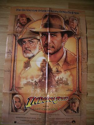 INDIANA JONES AND THE LAST CRUSADE -HARRISON FORD- ORIGINAL US One Sheet