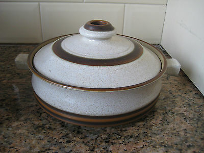 Denby - Potters Wheel - Large Lidded Tureen / Casserole Pot - Hardly Used