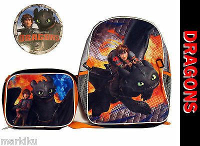 How to train your Dragon school backpack & lunch bag rucksack Hiccup Toothless