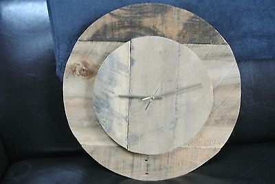 Large Vintage Rustic Driftwood Wood Wall Clock