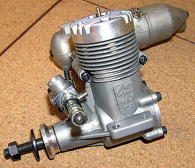 O.S. Max FP 40 Glow Engine Carb and Silencer