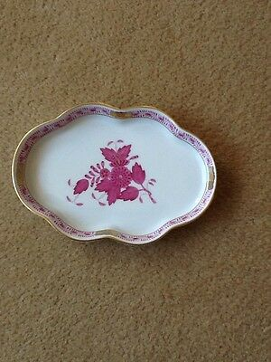 Herend Porcelain Chinese Bouquet Raspberry Pin Tray