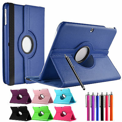 """360 Leather Stand Case Cover For Samsung Galaxy Tab 4 10.1"""" Inch T530 wit Stylus"""