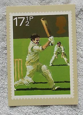 1980 Royal Mail Postcard - SPORTS, CRICKET, Post Office