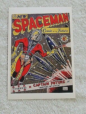 1992 Denis Gifford Space Aces POSTCARD - CAPTAIN FUTURE, THE NEW SPACEMAN COMIC