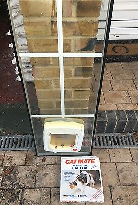 Double glazed French door  UPVC door panel with fitted cat flap