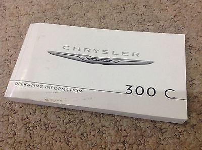 chrysler 300c owners hand book 2012 new genuine chrysler inc service section