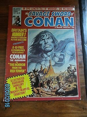 Savage Sword of Conan Marvel UK Issue 35