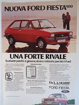 P.70.36 Pubblicita' Advertising Ford Nuova Fiesta 900 1970 Clipping Riv.Turismo