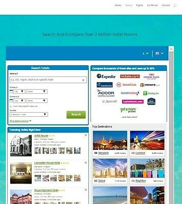 Automated Travel website Business - Hotel, Flight and Car Rental System