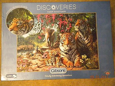 Gibsons Discoveries Tiger Sanctuary Jigsaw Puzzle, 1000 Pieces.