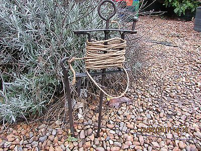 """vintage wrought iron garden straight line & pin,  21"""" 1/2 long"""