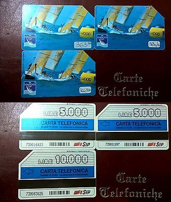 """lotto schede telefoniche serie """"Kenwood"""" n°363,363a,364"""