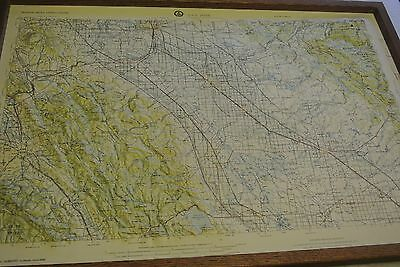 "Vintage 32"" X 22"" Rare Raised Relief Map SAN JOSE CA Retro 3D IN FRAME BY HUDSON"