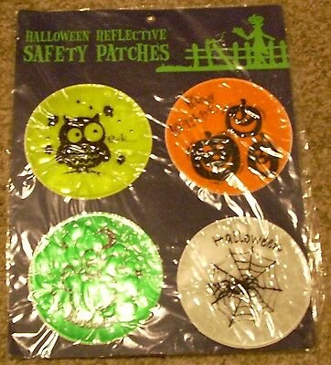 4 Trick or Treat Halloween Reflective Safety Patches