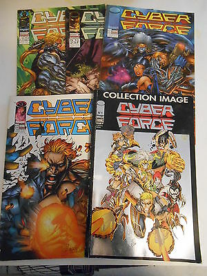 Lot de 05  Comics éditions Semic Cyber Force N°1 - 7 - 8 - 10 - 11