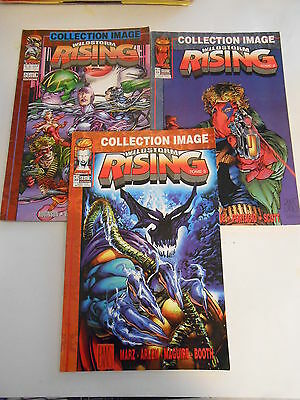 Lot de 04  Comics éditions Semic  Wildstorm Rising 1997  Tome 1 2 et 3