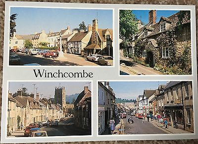 Colour Postcard of Winchcombe - Shops / Old Cars