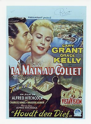 Cary Grant Grace Kelly Hitchcock To Catch A Thief 1955 Vintage Photo R70 #1