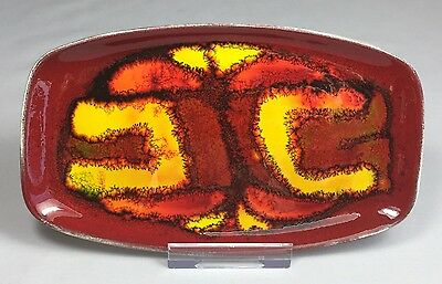 Superb Vintage Poole Pottery 'Delphis' Tray Rosina St. Clayre Abstract Design