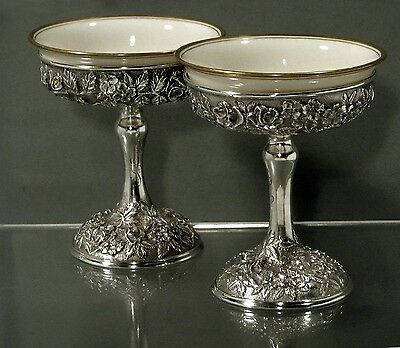 Baltimore Silversmiths Sterling Cup & Liner  (2)    c1905        Hand Decorated