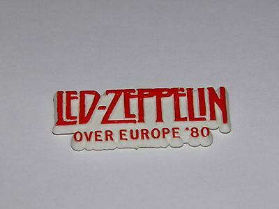 Led Zeppelin - Over Europe '80 Vintage Official Tour Badge RARE